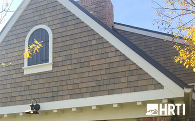 New shingle siding stained with Duration by Sherwin Williams