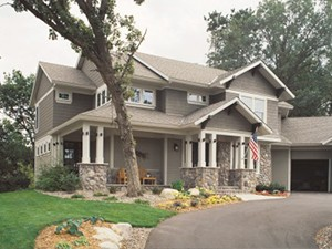 This home has fiber cement siding