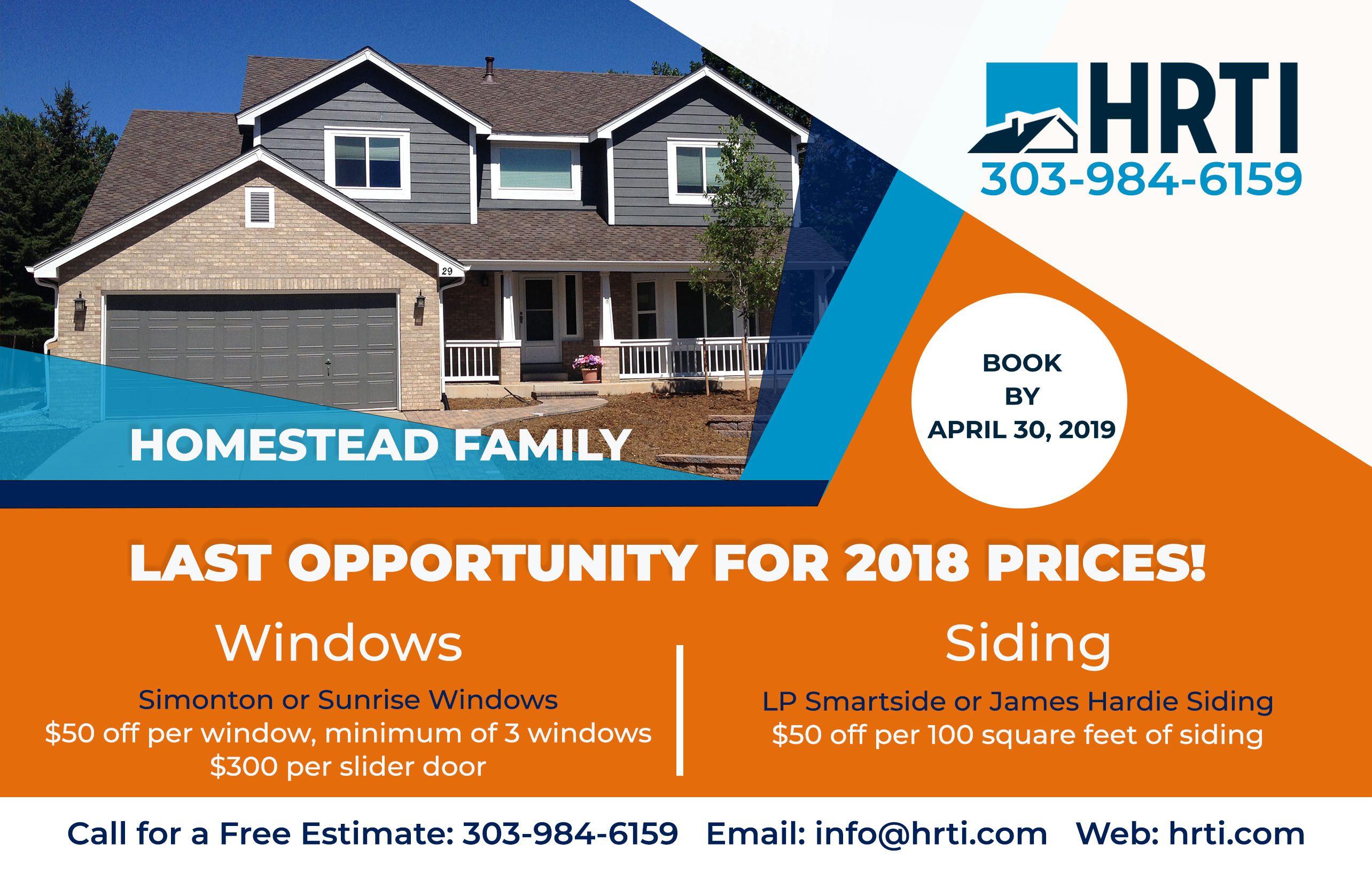 Homestead neighborhood flyer