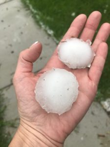 Golf ball size hail can cause real damage to a home