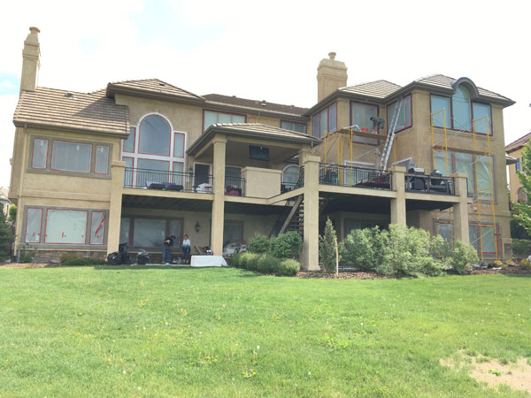 Highlands Ranch home back view