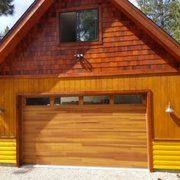 Counrty chic wood garage door