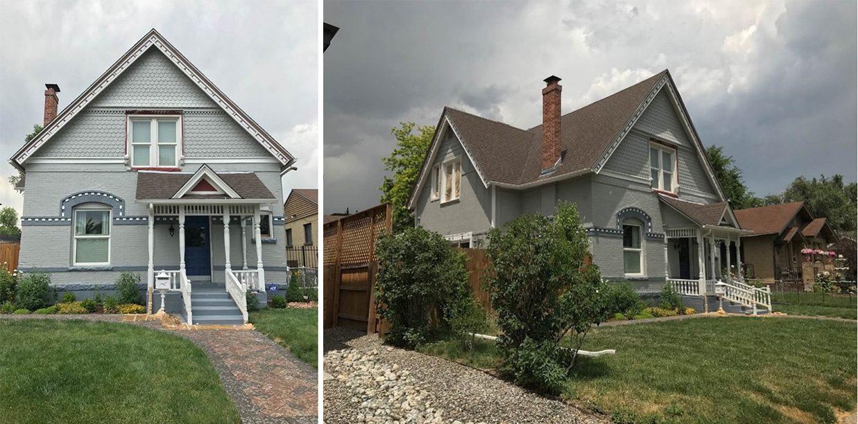 Historic Victorian exterior home renovation project